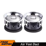 2pc For 2009-14 Ford F-150 Dashboard Heater Air Vent Duct Chrome Oem 9l3z19893ca