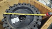 4 New Unused Solid Skid Steer Tires 31x10-20 - With Rims   Free Shipping