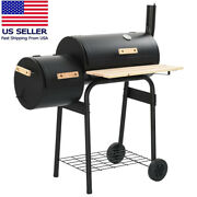 Classic Bbq Outdoor Stove Camping Cooker Barbecue Charcoal Oven Rack Smoker Us