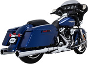 Vance And Hines 16871 Power Duals Header Systems Chrome P-dual - Chrome