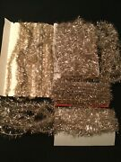 Lot Vintage Christmas Feather Tree Tinsel Garland Cotton Core