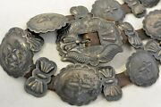 6.5ozt Harry Morgan Signed Navajo Concho Belt W/24 Pieces Sterling Silver Buckle