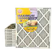 Arm And Hammer Maximum 16000 Merv 11 Air Filters With Carbon For Odor. Case Of 12