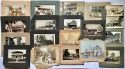 Antique Cabinet Photo Lot American Settlers Homes Houses Architecture History