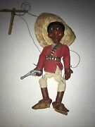 Vintage Mexican Marionette Puppet With Gun