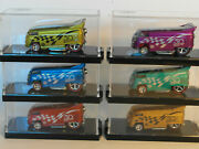 2018 Hw 50th Anniversary Vw Drag Bus Customized By Chris Stangler Lot Of 6