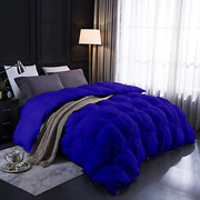 Pinch Pleated Comforter|500 Gsm|100 Long Staple Cotton |royal Blue California