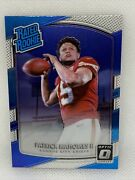 2017 Donruss Optic Patrick Mahomes Ii Rated Rookie Card Rc 177 Chiefs K65