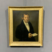 Antique And Important Portrait Of A Noble Gentleman Period Nineteenth Century