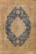 Antique Floral Traditional Hand-knotted Area Rug Evenly Low Pile Wool 9x12 Ft