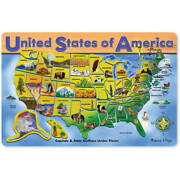 Melissa And Doug Usa Map Wooden Puzzle 45pc