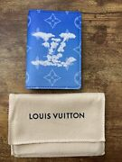 Nwt And Rare Sold Out Louis Vuitton Clouds Pocket Organizer Wallet Virgil