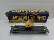 Gilbert American Flyer 634 Plastic Flat With Yellow Cast Floodlight In Box
