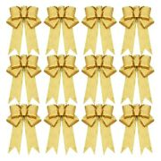 30x12 Pcs Glitter Christmas Tree Bow Ribbon Bows, Long 10 Inches And Wide 8