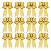 30x12 Pcs Glitter Christmas Tree Bow Ribbon Bows Long 10 Inches And Wide 8