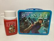 Star Wars Return Of The Jedi Lunchbox With Thermos Vintage 1983 Awesome💥