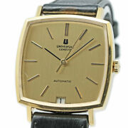 Universal Geneve Micro-rotor Automatic Cal 72 Antique 18k Yellow Gold Watch Ex++