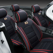 Us Car 5 Seats Cover Pu Leather Full Interior Set Protect Of Storage And Security