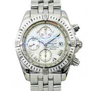 Breitling Chronomat Evolution A156a53pa Date White Dial Mens Watch 90123386
