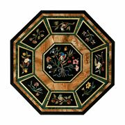 30 Black Marble Dining Table Top Inlay Mosaic Malachite Coffee Octagon O83