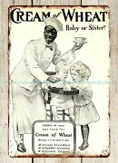 Cream Of Wheat 1906 Cereal Recipes Breakfast Baby Sister Metal Tin Sign