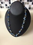J3 Honora Blue Cultured Freshwater Pearl Keshi And Gemstone Sterling Necklace