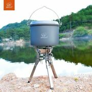 Foldable Outdoor Gas Stove Burner Portable Windproof Camping Cooking Hiking