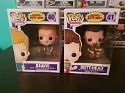 Funko Pop Television Beavis And Butthead Set 40 41 Vaulted W/ Hard Protectors