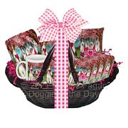 Mother's Day Gift Basket Wire Fox Terrier Dog Blanket Ornament Magnet Pillow