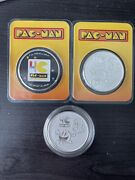 2020 Tep Colorized And Reg Niue 1oz Silver Pac-man 40th Anniversary Coins