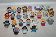 Lot Of 25 Pieces Fisher Price Little People Play Toys Princess Shepherd Doctor