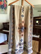 Nwt 428 Johnny Was Amika Cashmere Wool Wrap Ivory Embroidered