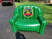 Rare Mooshead Lager Beer Blow Up Couch 53x28x41 Tall