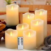 Flameless Candles Flickering Battery Operated Led Set Of 7 D3 X...