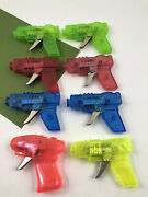 8 Vintage Toy Space Ray Gun Friction Powered Sparking Pistols All Working