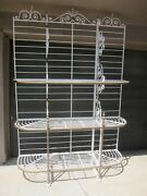 Antique Bakers Rack French Wrought Iron Storage Shelves By A Courrier A Paris