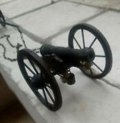 Superb Antique Genuine Model Of A Bronze Cannon From An Old Collection