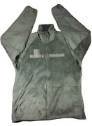 Us Army Cold Weather Fleece Jacket- Gen Iii Ecws Foliage Green Size Large Long