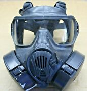 Avon M50 Gas Mask Size Small W/ Filters Clear Lense