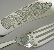 English Silver Plate Fishing Themed Fish Eaters Cutlery Antique C1910