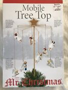 Mr Christmas Mobile Animated Angels Tree Top Or Table Piece Rare Exc Cond Works