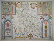 Buckingham Both Shyre And Shire By John Speed. Bassett And Chiswell 1676.