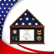 Flybold Flag Display Case Large Military Shadow Box Burial Memorial Funeral F...