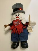 Frosty The Snowman Build A Bear 18 Lights Up,jeans,shirt,scarf,broom,pipe,shoes