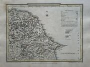 1809 Northeast Yorkshire Antique Hand Coloured County Map By Cole And Roper