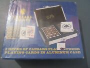 Caesars Palace 2 Decks Poker Playing Cards In Aluminum Case