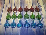 Lot Of 18 Vintage Wheaton Presidential Carnival Glass Mini Collector's Bottles