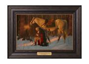 12168 - The Prayer At Valley Forge - 12 X 17 Textured Litho Black W/gold Frame