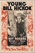 Young Bill Hickok Vintage Western Movie Poster Roy Rogers