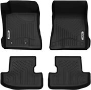 Oedro Floor Mats Liners Tpe All-weather Guard Carpet For Ford Mustang 2015-2020